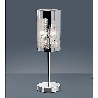 Trio Lighting Capital Modern Chrome Metal Table Lamp