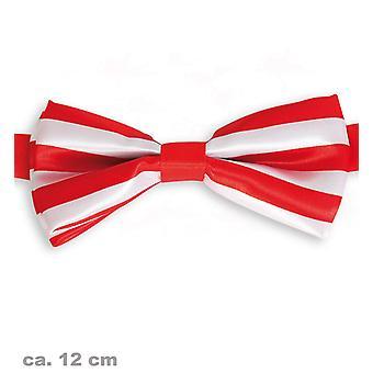 Båge fluga rödvita Köln clown tillbehör 12cm Jeck