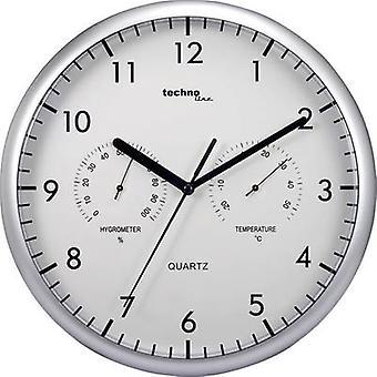 טכנו קו WT 650 שעון קיר קוורץ 26 ס מ כסף