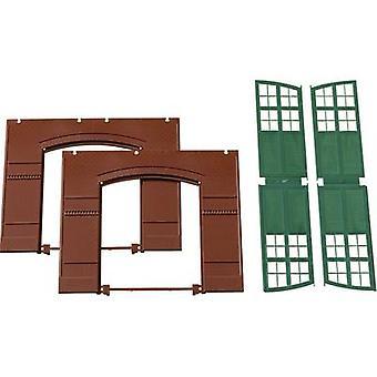 Auhagen 80505 H0 Gates, Walls Green (W x H) 94 mm x 86 mm Plastic assembly kit