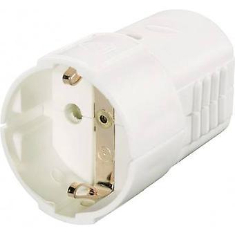 GAO 627747 sikkerhed lysnettet socket plast 230 V hvid IP20