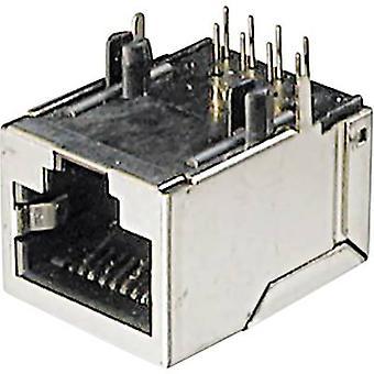 ASSMANN WSW A-20042-LP/FS Mounted Modular Socket 8 RJ45 Socket, horizontal mount Silver