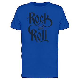 Rock And Roll Black Lettering Tee Men's -Image by Shutterstock