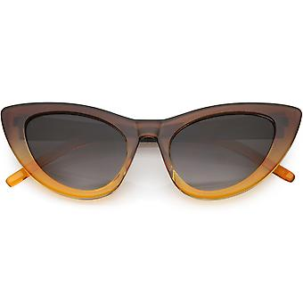 Негабаритных полупрозрачные градиента Cat глаз солнцезащитные очки нейтральных цветные линзы 49 мм