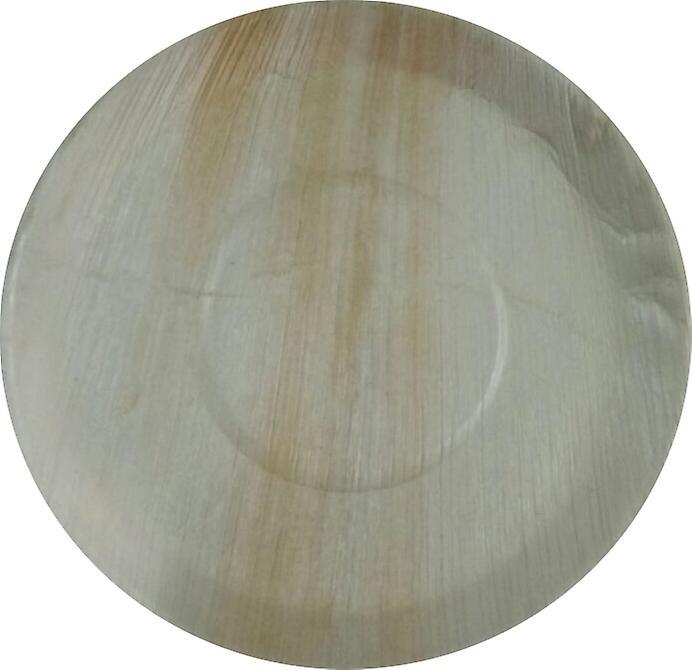 Miljövänliga engångstallrikar av part - den 30cm runda (25 plåtar)