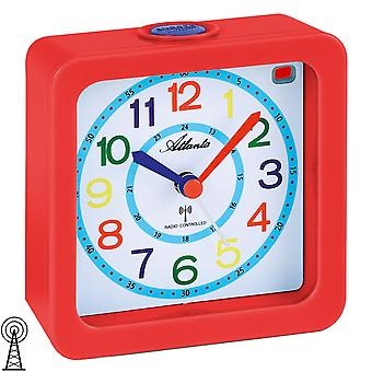 Atlanta-1853/1 alarm clock kids alarm clock red colorful quiet alarm clock for kids
