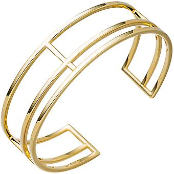 Cuff / open Bangle Gold Bracelet 925 Silver gold more-row