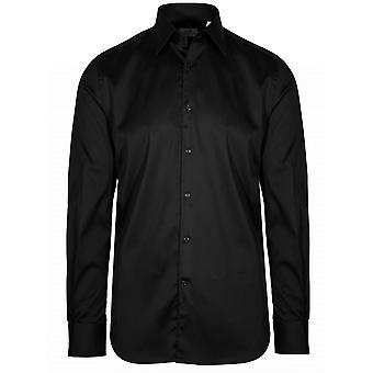 CC Collection Corneliani Black Long Sleeve Shirt
