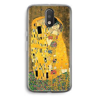 Motorola Moto G4/G4 Plus Transparent fodral (Soft) - Der Kuss