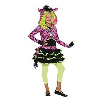 Neon rosa Zebra Hoody dyr kostyme Zebra kostyme for barn