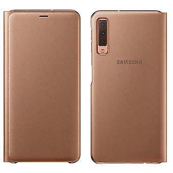 Samsung wallet cover case EF WA750PFEGWW Galaxy A7 2018 A750F protective sleeve gold