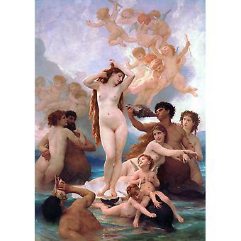 Geboorte van Venus, Adolphe William Bouguereau, 60x40cm
