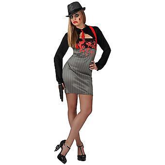 Vrouwen kostuums maffia zombie kostuum voor dames