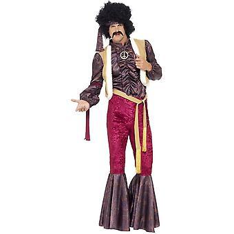 70's psychodeliczny Rocker kostium z flary, klatce piersiowej 38
