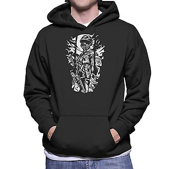 Zombie Soldier Men's Hooded Sweatshirt