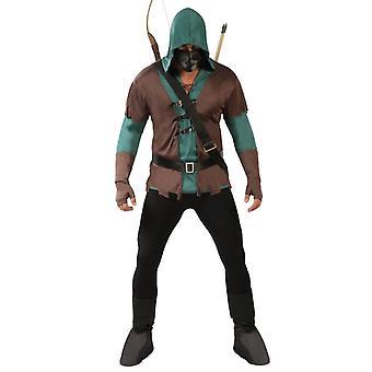 Mens Archer Robin Hood Fancy Dress Costume