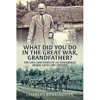 Vad gjorde du i kriget, farfar?: livet och tiderna av Edwardian häst artilleriofficer