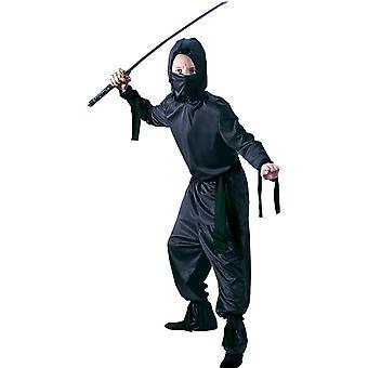Svart Ninja kostym för tonåringar / barn