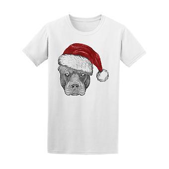 Vintage Pitbull Xmas Santa Claus Tee mænds-billede af Shutterstock