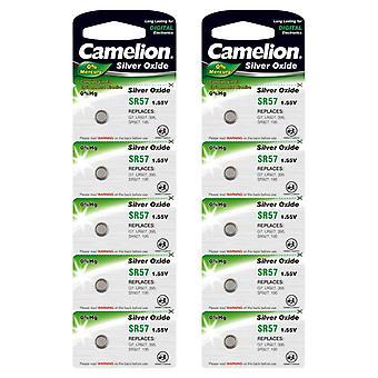 10x Batteria SR57 Ossido d'argento SG7 G7 395 SR926 Batterie a celle a bottone Camelion
