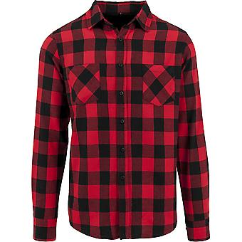 Cotton Addict Mens Checked Flannel Long Sleeve Button Shirt
