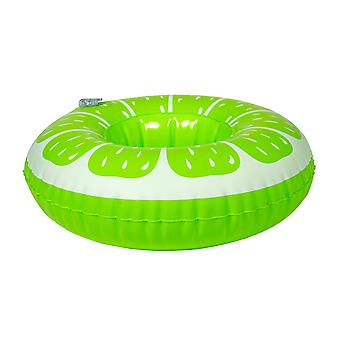 Beverage holder inflatable lime 17x17 cm pool party drinkholder cocktail holder