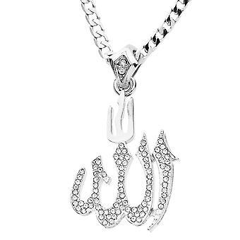 Iskallt ut bling MINI kedja - ALLAH silver