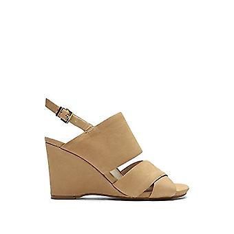 Kenneth Cole New York Womens Irene Leather Peep Toe Casual Slingback Sandals