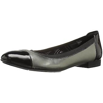 Naturalizer Womens Therese Leather Cap Toe Slide Flats