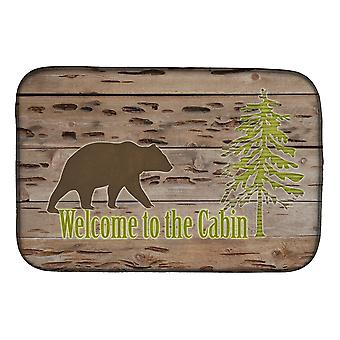 Carolines Treasures  SB3081DDM Welcome to the Cabin Dish Drying Mat