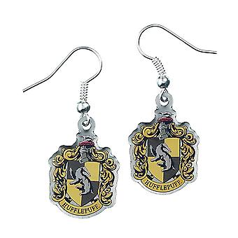 Harry Potter Silver Plated Hufflepuff Earrings