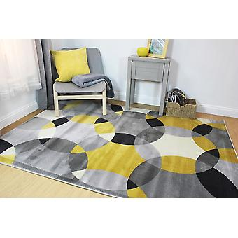 Cocktail Cosmos Grey Ochre  Rectangle Rugs Modern Rugs