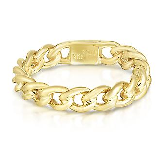 14 k Gelbgold Twisted Links Womens Ring, Größe 7