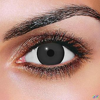 Black Mini Sclera Contact Lenses (Pair)