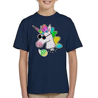 Rainbow Unicorn Shades Kid's T-Shirt