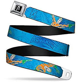 Seatbelt Belt -  DC Comics - Aquaman V.3  Adj 24-38' Mesh New aqa-waq003