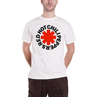 Red Hot Chili Peppers T Shirt Red Asterisk band logo new Official Mens White