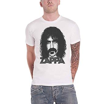 Frank Zappa T Shirt Big Face Portait Logo new Official Mens White