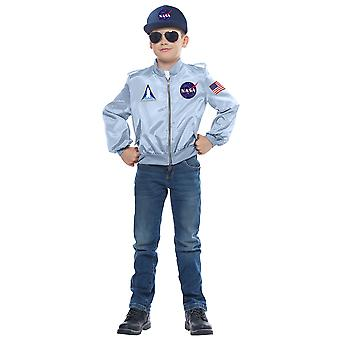 NASA Astronaut Spaceman Apollo Book Week Child Girls Boys Costume Flight Jacket