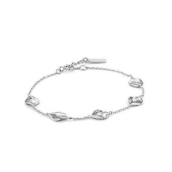 Ania Haie Silver Rhodium Plated Crush Multiple Discs Bracelet B017-03H