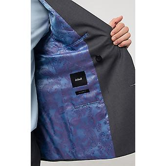 Dobell Mens Grey Sharkskin Jacket Regular Fit Double Breasted Peak Lapel