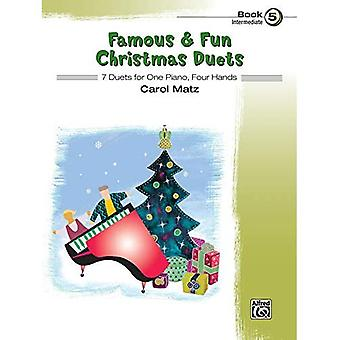 Famous & Fun Christmas Duets, Bk 5: 7 Duets for One Piano, Four Hands (Famous & Fun)