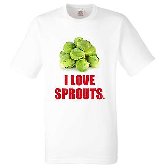 Christmas Tshirt I Love Sprouts