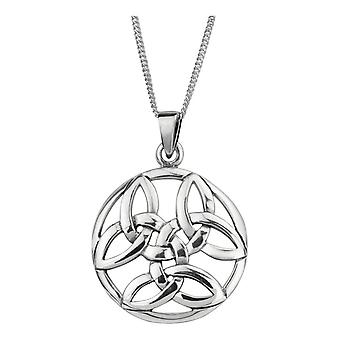 Celtic Holy Trinity Knot Necklace Pendant Round Shape - Inclut 22'quot; Chain