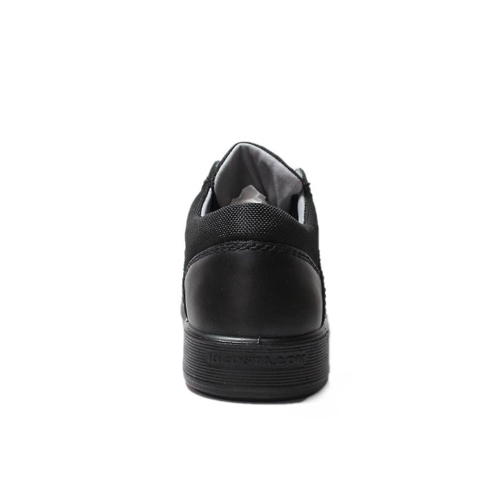 Ricosta Harry medium fit zwart lederen jongens Lace up school schoenen dXM9bQ