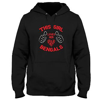 Sweatshirt hooded black man gen0537 this girl love her bengals