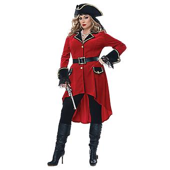 Womens High Seas Heroine Pirate Plus Größe Fancy Kleid Kostüm
