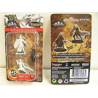 Pathfinder Deep Cuts Unpainted Miniatures Elf Male Paladin (Pack of 6)