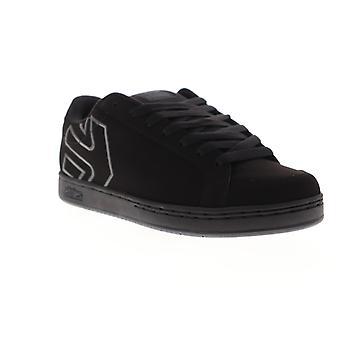 Etnies Kingpin 2  Black Nubuck Athletic Lace Up Skate Shoes