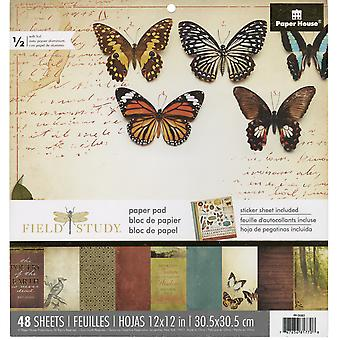 """Paper House Single-Sided Paper Pad 12""""X12"""" 48/Pkg-Field Study"""